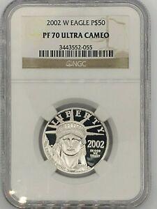 2002 Platinum American Eagle $50 NGC PF70 Ultra Cameo 1/2 Ounce
