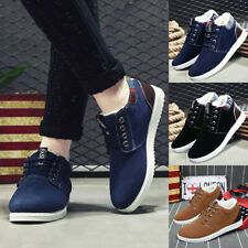 Fashion Men's Casual Winter Warm Lace Up Business PU Leather Shoes Short Boots