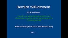 IHK Handelsfachwirt mündliche Prüfung Handout, Präsentation