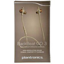 Plantronics BackBeat GO 3 Sweatproof Bluetooth Wirelss Headset - Grey / Copper