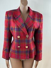 New Ex Brand Blue /& Yellow Tartan Check Fully Lined Double Breasted Blazer 14-16