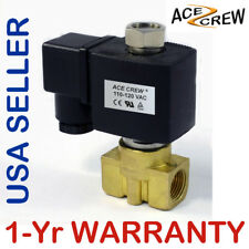 3/8 inch NORMALLY OPEN 110V-120V AC Brass Solenoid Valve NPT ONE-YEAR WARRANTY