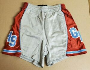 Glendale High School Official Vintage Silver Red Lady Falcons Basketball Shorts