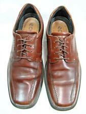 Ecco Mens Oxfords Shoes Bicycle Toe Size 11.5  EURO 44 Brown Leather  # 104 JS