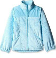 New THE CHILDREN'S PLACE Girl's 14 Light Blue Faux-Fur Fleece Full Zip Jacket