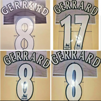Liverpool Gerrard #8#17 PREMIER LEAGUE & Champions League White Name/Number Set