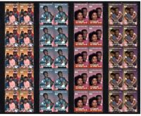BILL COSBY, THE COSBY SHOW TV ICON SET OF 4 MINT VIGNETTE STAMPS