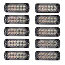 10X Amber/White Car 12 Led Emergency Warning Flash Strobe Light Kit Bar Truck S9