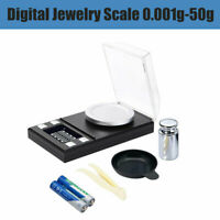 High Precision Digital Pocket Scales Jewellery Electronic Milligram 0.001 50g AU