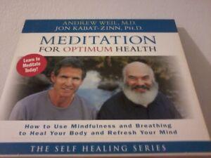 MEDITATION FOR OPTIMUM HEALTH 2-Disc CD Set POST FREE