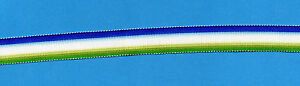 ATLANTIC  STAR  MINIATURE MEDAL RIBBON OLD SILK/COTTON 6 INCHES (15cm)