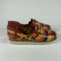 Brand X Sandals shoes womens size 8.5 multi-color slip on