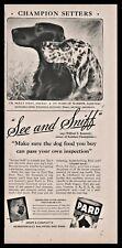 1942 Champion Irish and English Setter Pard Dog Food Vintage Print Ad