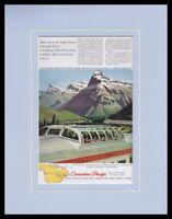 1955 Canadian Pacific Streamliner Framed 11x14 ORIGINAL Vintage Advertisement