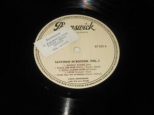 Louis Armstrong - 2 PROMO LPs - Satchmo In Boston Vol. I & II - Brunswick 87 020