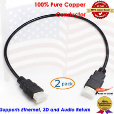 2X1.5FT 1080P High Speed HDMI Cable Ethernet -Built in Signal Booster-Support 3D