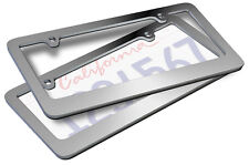 2pc OxGord Metal License Plate Frame HD Stainless Steel Chrome Car SUV Van Truck