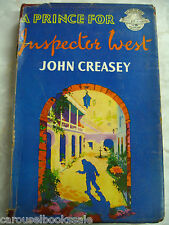 A Prince for Inspector West John Creasey Vintage 1st UK hcdj 1956 A15
