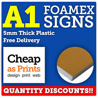 A1 Foamex Sign Boards | 5mm Rigid Plastic Sheet | Personalised with Custom Print