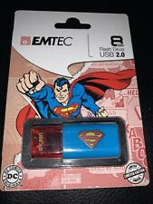 Superman 8GB Flash Drive USB 2.0 - Emtec - DC - Superhero