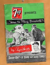 ROGER HORNSBY 7UP PRESENTS HOW TO PLAY BASEBALL BROCHURE 1956