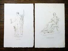 Lot 2 gravures Reveil d'ap. Canova - Napoléon en Mars désarmé / Mère de Napoléon