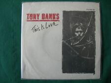 "TONY BANKS""THIS IS LOVE""(GENESIS)RARE 7"" GERMANY FIRST PRESS 1983 NM GERMAN"
