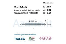Anse speciali 2 pz flangia rlx compatibili Rolex 20 mm Spring bars strong watch