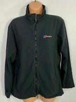 WOMENS BERGHAUS UK 16 BLACK CASUAL FULL ZIP UP SOFT FLEECE WALKING JACKET JUMPER