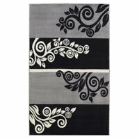 "Hawthorne Collection 4'3"" x 7'3"" Rug in Black"
