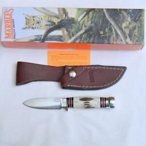MARBLE'S USA 1999 sambar stag SPORT 99 knife -Loveless approved, sheath; NIB
