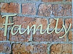 Wooden Family Sign- wall art decor rustic family decoration wood sign families