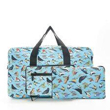Eco Chic Wild Birds Foldaway Holdall Travel Weekend Cabin Bag Lightweight Gym