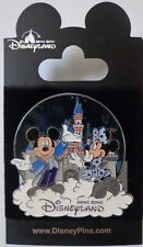Disney HKDL Stained Glass Mickey and Minnie Pin