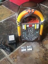 Enesco Wurlitzer Mini Jukebox Mini Cassette Player 1986 With 2 Tapes And Power