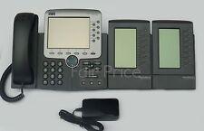 Cisco CP-7970G IP Phone - Telephone + 7914 Expansion Modules -Inc VAT & Warranty