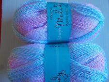 King Cole Melody DK baby yarn, Raspberry, lot of 2 (320 yd ea)
