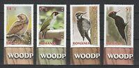 Romania 2016 Birds 4 MNH stamps