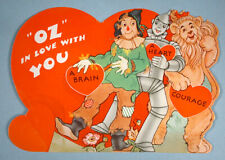 1940 The Wizard of Oz Original Valentine Card Loew's Inc. Scarecrow Tin Man Lion