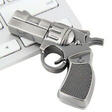 Revolver Gun Model USB2.0 Flash Pen Drive Memory U Stick Thumb Storage 4GB FE