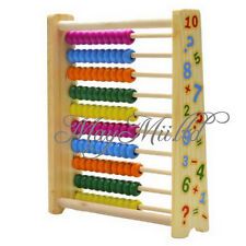Wooden Abacus Toys Math Learning Teaching Tool Back Magnet Board Kids Simple E