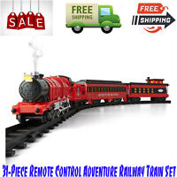 31-Piece Remote Control Adventure Railway Train Set With Lights, Sound and Smoke