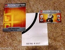 LEGO Mindstorms NXT  User Guide, Quick Start, & Test Pad for set #8527