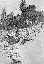CASTELLANI Leonardo, Viale dei colli. Acquaforte originale Cm 22x15, 1972