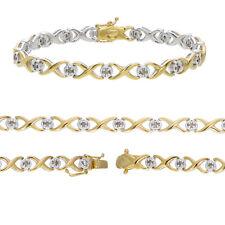 Sterling Silver Champagne Diamond Infinity Bracelet (0.50 CT)