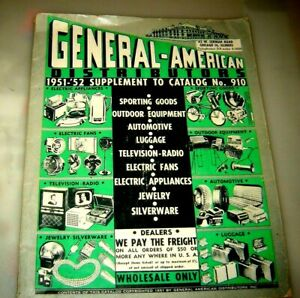 GENERAL AMERICAN DISTRIBUTORS & WHOLESALE PHOTO SUPPLY COMPANY CATALOG 1952
