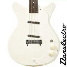 NEW DANELECTRO '59 MOD D59M NEW OLD STOCK PLUS WHITE CLASSIC ELECTRIC GUITAR