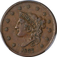 1837 Large Cent Medium Letters PCGS XF45 N.6 R.2- Superb Eye Appeal