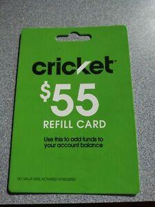 Cricket $55 Prepaid Cellular card