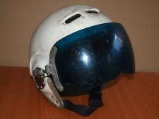 Soviet helmet pilot, airplane. The pilot fighter, helmet.  USSR